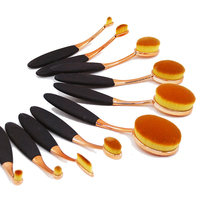 Christmas Present 10Pcs Puff Cosmetic Toothbrush Shaped Makeup Foundation Brushes for BB cream