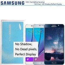 شاشة 2560*1440 سوبر AMOLED LCD لسامسونج غالاكسي نوت 5 LCD N9200 N920F N920A N920T N920C N920V LCD تعمل باللمس مع الإطار