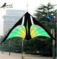 Envío Gratis Outdoor Fun Sports 2.8 m Nylon Verde Pájaro Cometa Delta Nuevo Para El Regalo De Navidad