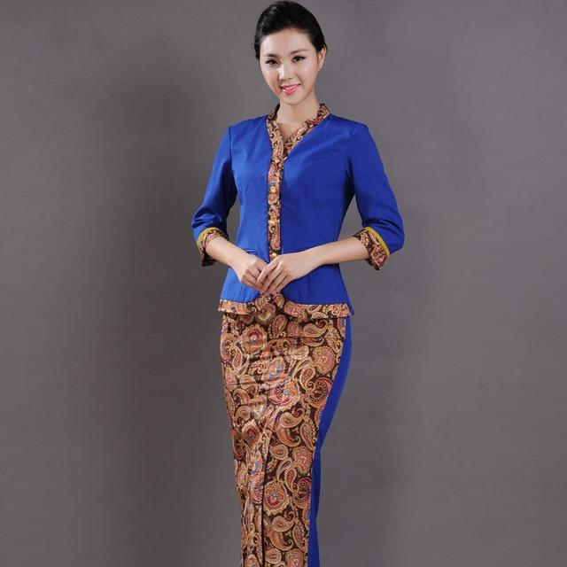 10sets free ship work wear thai overalls yingbin work for Uniform thai spa