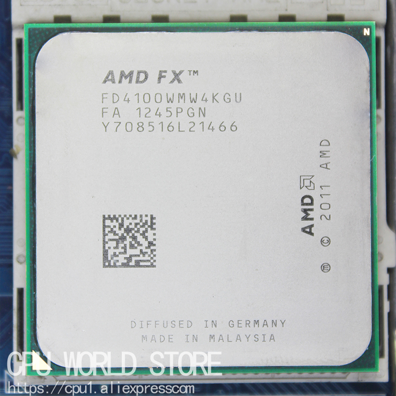 AMD FX 4100 Quad Core CPU processor AM3+ /8MB/95W FX serial pieces FX-4100 working image