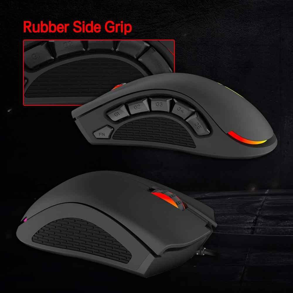 9 программируемых кнопок, цветность RGB подсветкой, 12400 Точек на дюйм эргономичная оптическая мышь для ПК компьютерных игр G7 мышей для MMO/MOBA/кадров в секунду/RTS игр