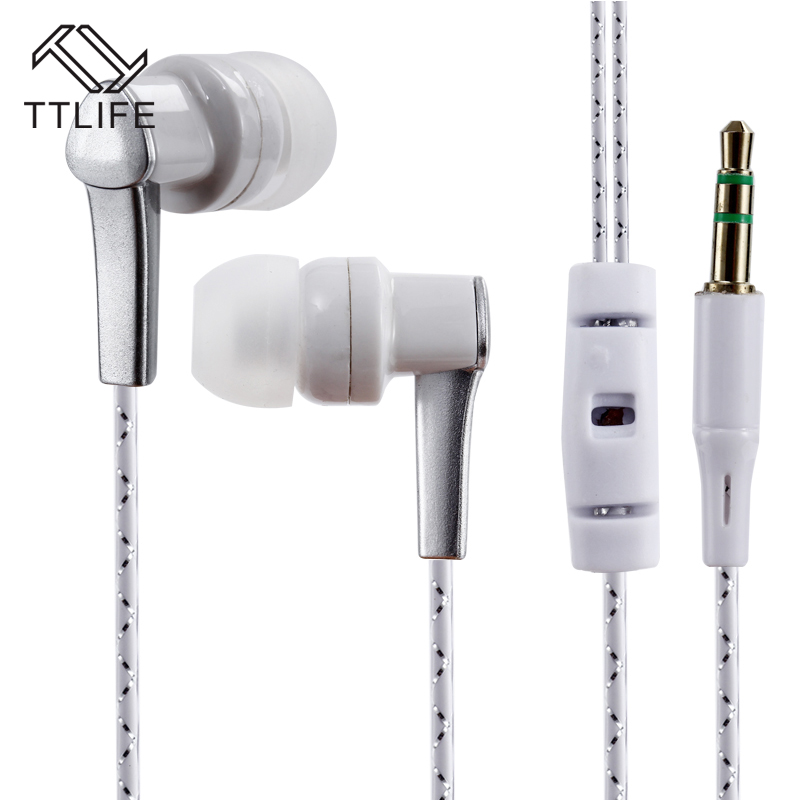 TTLIFE Wired Sports Earphones K3 HiFi Stereo Headphone Music In-ear Original Headset With Mic for Android Phone Xiaomi Mp3 original xiaomi hybrid earphone units with mic remote in ear hifi earphones with mic circle iron mixed for xiaomi redmi mobile