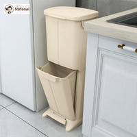 Новый секретный мусорный бак DIY Педальный контейнер сухой и влажной разделения европейский стиль для ванной комнаты и itchen Бесплатная доста