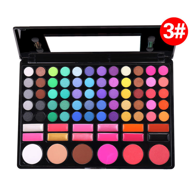 Professional 78 Colors Makeup Colorful Eyeshadow Palette Blusher Concealer Eye Shadow Make up Kit Set With Mirror