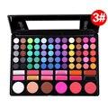 Professional 78 Cores de Maquiagem Colorida Da Paleta Da Sombra Blush Corretivo Sombra Eye Make up Set Kit Com Espelho