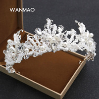 Popular jóias da coroa da rainha de luxo coroa real de casamento da noiva acessórios vestido de noiva cocar foto estúdio de fotografia HA0185