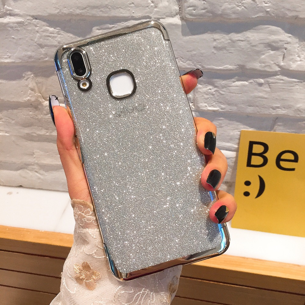 Glitter Bling Soft TPU <font><b>Case</b></font> For Coque <font><b>Vivo</b></font> X9 X9S X7 V7 X20 Plus Y66 Y67 Y69 Y75 Y79 Y55 Y85 V9 Y71 <font><b>Y83</b></font> Y81 X21i Back cover image