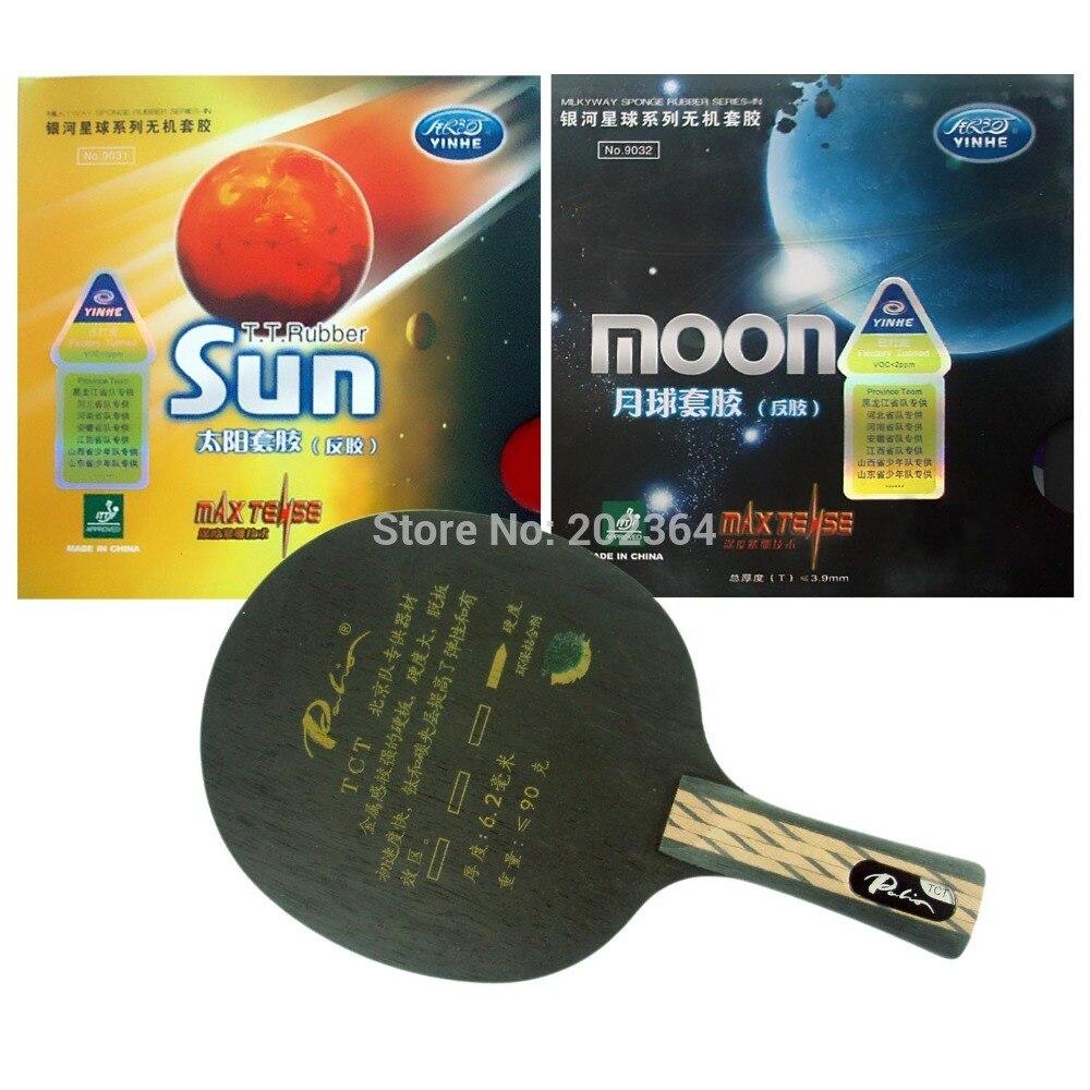 Galaxy Yinhe Uranus.3 Tischtennis-blatt Galaxy Sonne Werks Tuned Und Mond Werks Tuned Gummischwamm Shakehand Langen Griff Fl Tischtennis Schlägersportarten