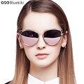 Bluekiki Women Polarized Sungalsses New Fashion Brand Designer Butterfly Glasses Metal Vintage Cat eye Driving Oculos De Sol