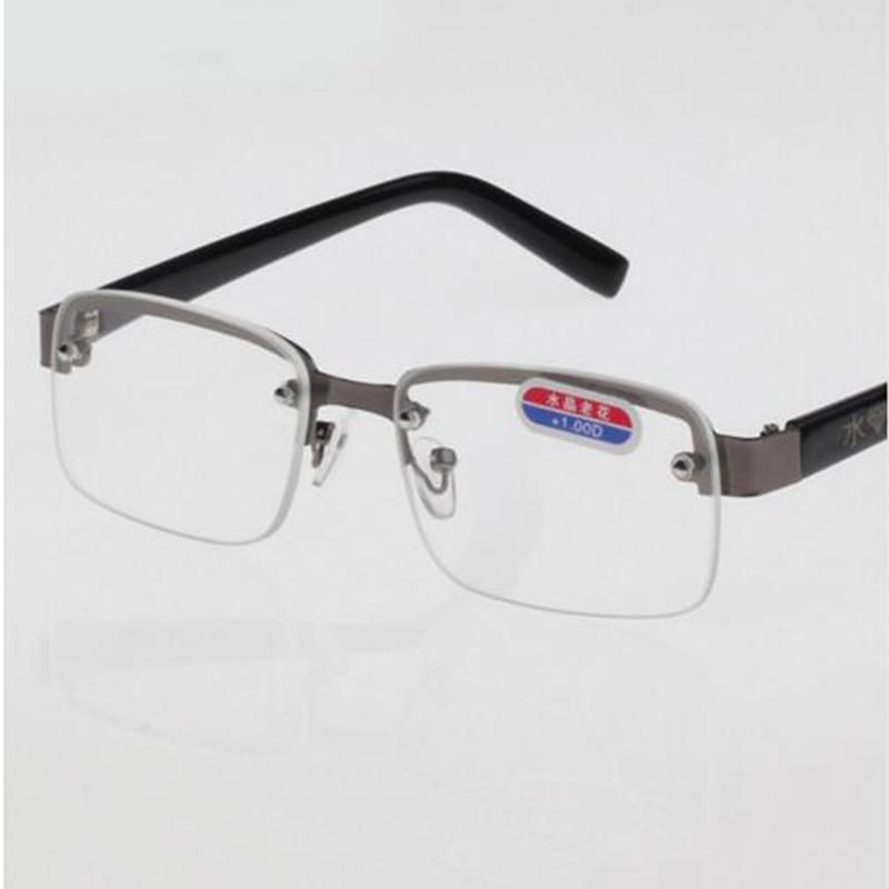 Новое поступление, высокое качество, сплав, коричневые линзы, очки для чтения, прозрачный кристалл, очки для чтения, очки, лупа, Oculos gafas B2
