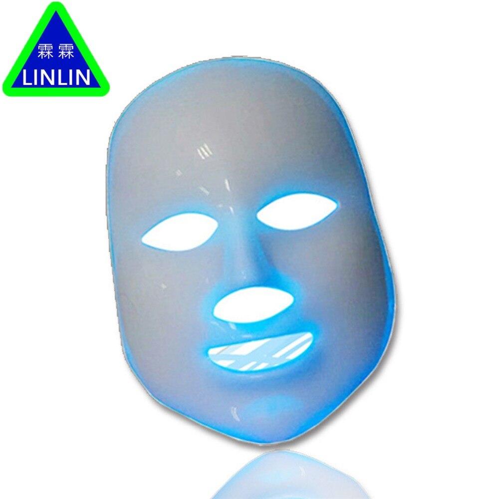 Linlin led 컬러 마스크 레드 블루 그린 7 색 안티 여드름 컬러 라이트 마스크 전자 뷰티 photorejuvenation 악기-에서스킨 케어 도구부터 미용 & 건강 의  그룹 2