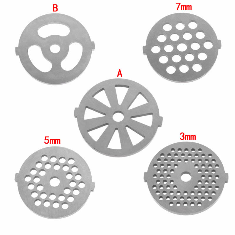 1pc Meat Grinder Plate Net Knife Meat Grinder Parts stainless Steel Meat Hole Plate1pc Meat Grinder Plate Net Knife Meat Grinder Parts stainless Steel Meat Hole Plate
