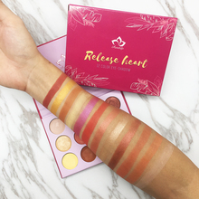 New brand Aurelife Release Heart 12 Color Pressed Powder Shadow Palette Too Matte & Shimmer  Yes Please Eye