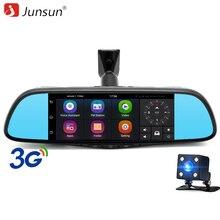Junsun 7 «сенсорный Специальный Автомобильный ВИДЕОРЕГИСТРАТОР Зеркало Камеры GPS Bluetooth 16 ГБ Android 5.0 Dual Объектив FHD 1080 P Видеорегистратор Даш Cam