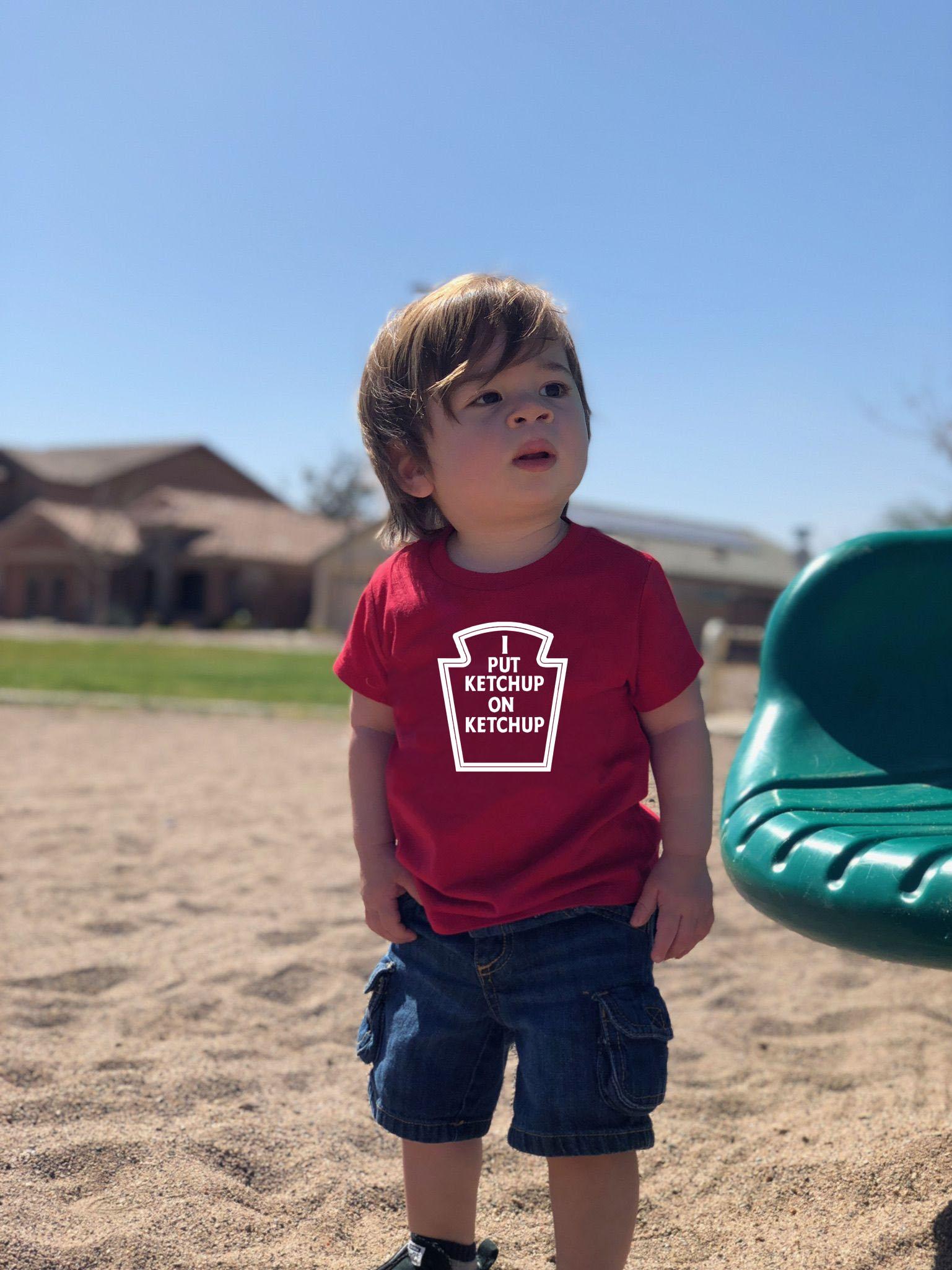 I Put Ketchup On My Ketchup children/'s tee kid/'s t-shirt funny shirt