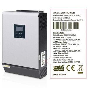 Image 3 - 5000W Solar Inverter 80A MPPT Off Grid Inverter 48V 220V Hybrid Inverter Pure Sine Wave Inverter 60A Battery Charger