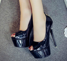 2017 summer new Korean sexy black high heels female Fish mouth fine with shallow mouth women's shoes Waterproof high heels