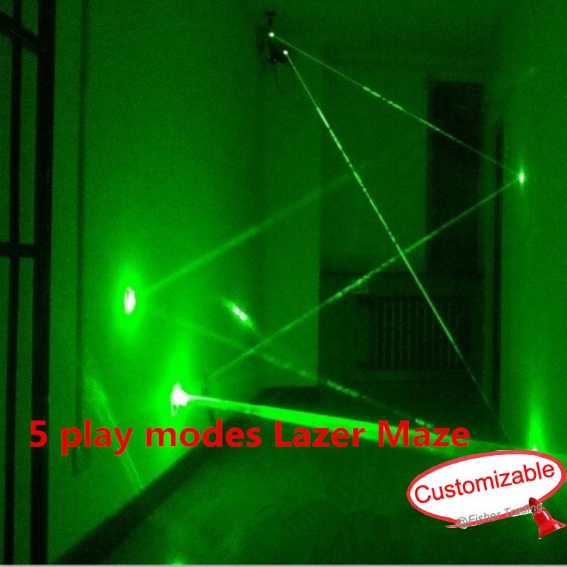 5 modes de jeu accessoires de rangée de laser/labyrinthe de laser de mode de jeu multiple pour la chambre du jeu secret de pièce, jeu de défi de travail d'équipe