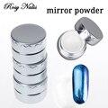 12 Colores espejo polvo de uñas Juegos de Magia Efecto Espejo Metálico En Polvo Polvo de Esmalte de Uñas de Gel