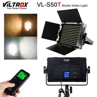 Viltrox VL S50T LED Video Slim 50W Bicolor Dimmable LCD Light 3300K 5600K for Studio Camera Camcorder& Wireless remote control