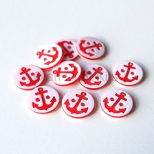1000pcs resin red laser Buttons sewing craft diy buttons cabochon beads 13mm Red Anchor buttons/ Small nautical sewing buttons 25pcs anchor urea button with four eye buttons retro fire button diy crafts clothing sewing accessories