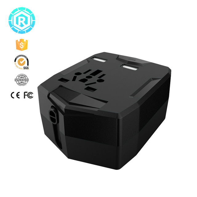 Travel Adapter With Power Bank 2 USB Ports with Phone Charger powerbank Fast Charging Universal Phone Charger US UK EU AU plug