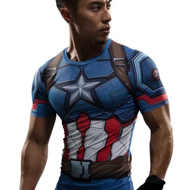 T Shirt Captain America Civil War Tee 3D Printed T-shirts Men Marvel Avengers 3 iron man Fitness Clothing Male Crossfit Tops