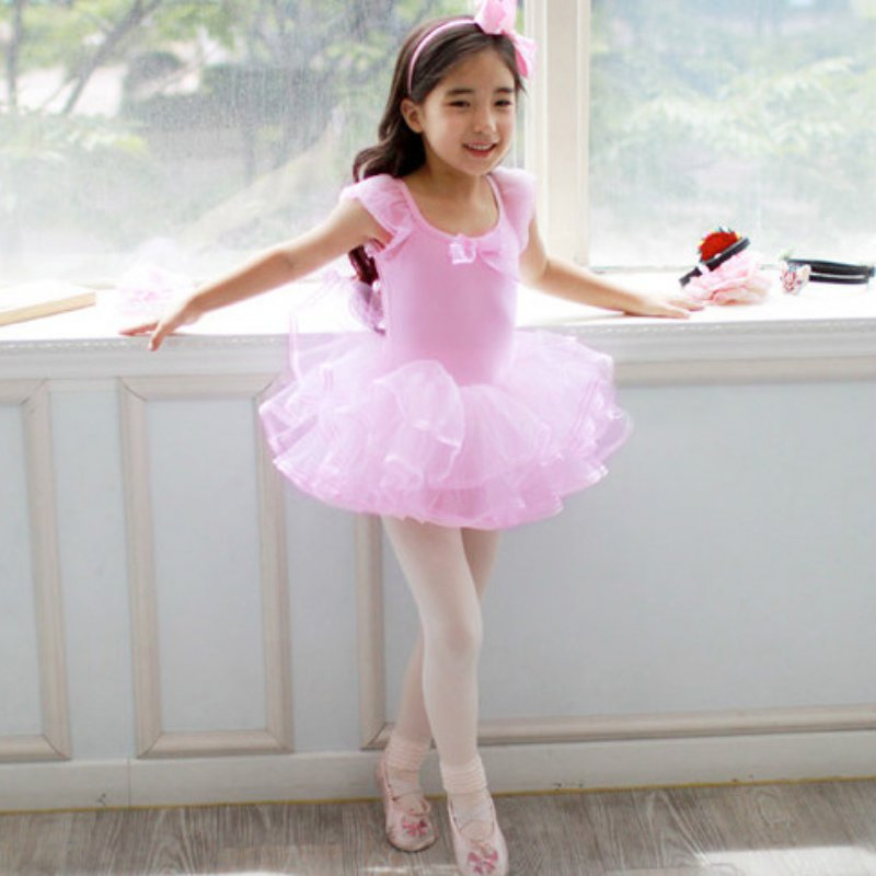 Lovely Girls Ballet Dress Baby Girls Dance Costumes Princess Tutu Dance Dress Leotard Girl Dancewear  girl