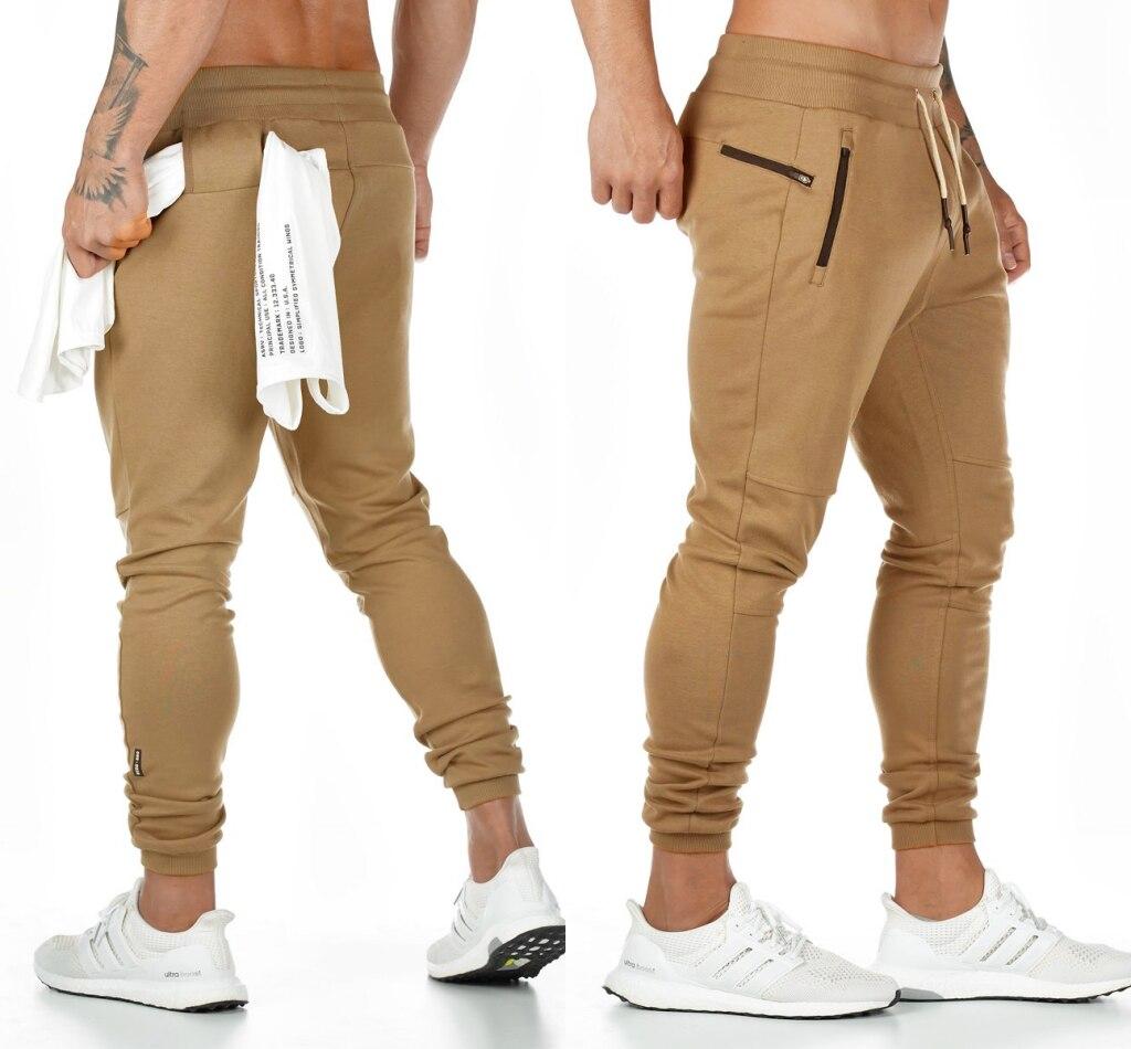 2019 New Cotton Pants Running Tights Men Sporting Leggings Workout Sweatpants Joggers For Men Jogging Leggings Gyms Pants