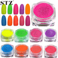STZ 1 bottle 3g Pure Candy Colors Dazzling Sparkly Nail Sugar Glitter Powder Full Decorations for Nail Art Beauty Tips #500-510