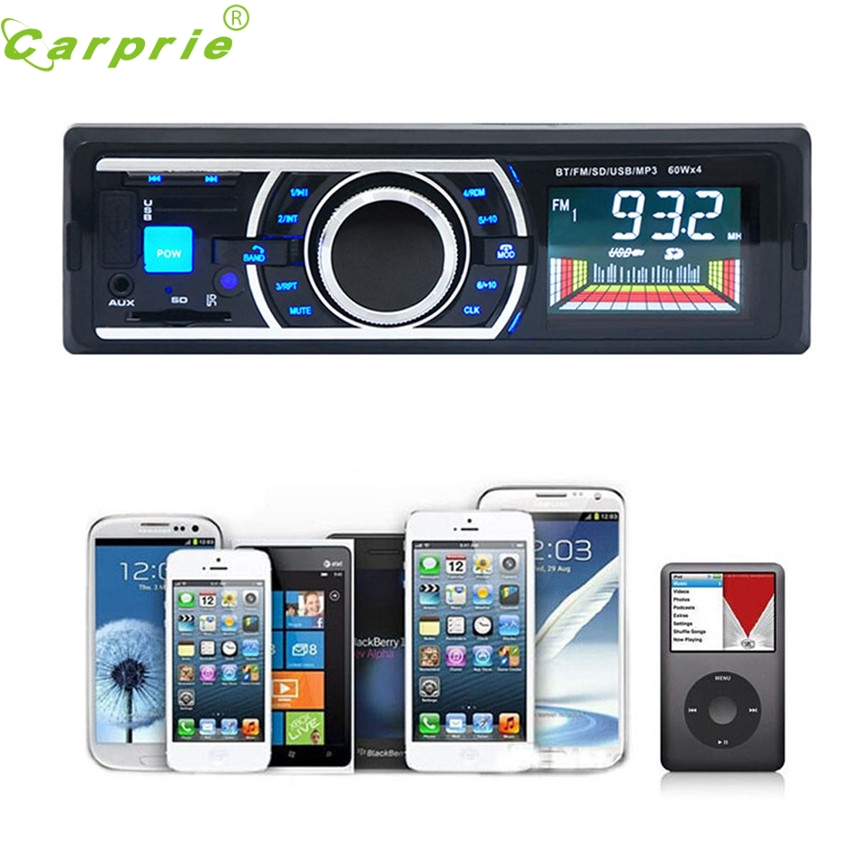 Dependable Bluetooth Car Stereo Audio In-Dash FM Aux Input Receiver SD USB MP3 Radio Play Ma28 dropshipping