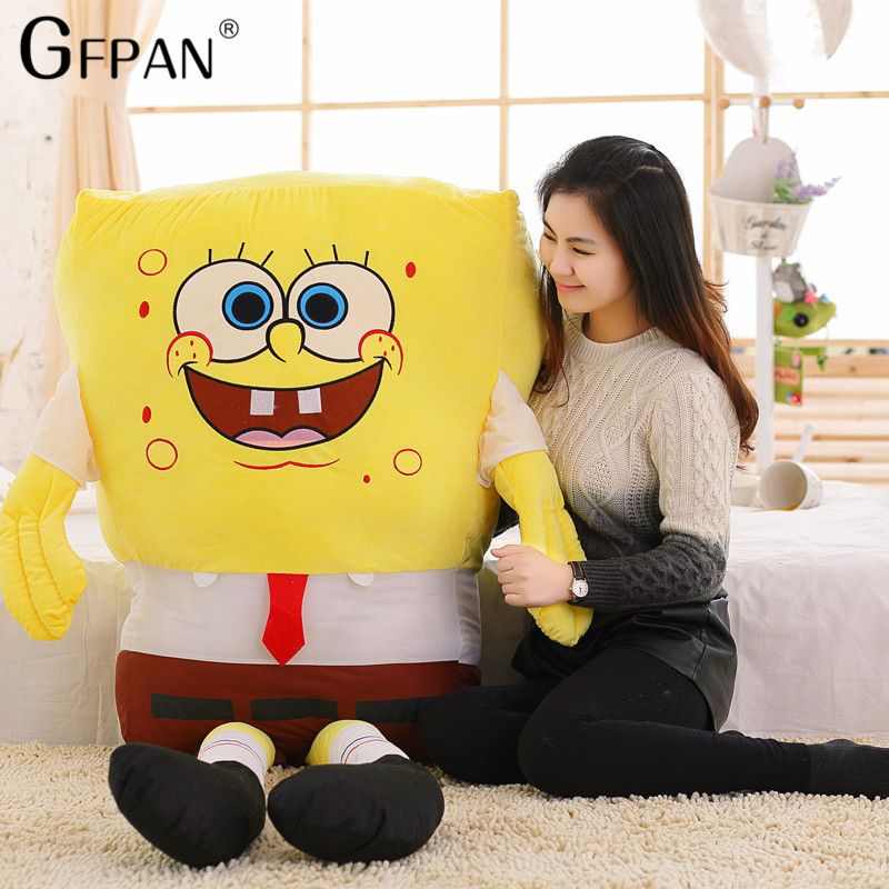 1pc 50/40cm Spongebob Soft Plush Anime Cosplay Doll Toys Cartoon Figure Cushion Low Price For Kids Baby Toys