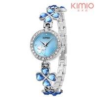 KIMIO Ladies Lucky Clover Love Crystal Strap Austrian Drilling Women Watches 2018 Luxury Brand Quartz Watches