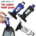 Digitale Auto Reifen Reifen Tread Tiefe Gauge Meter Vermesser Werkzeug Sattel Dicke Messgeräte Lauffläche Bremsbelag Schuh Reifen Überwachung System