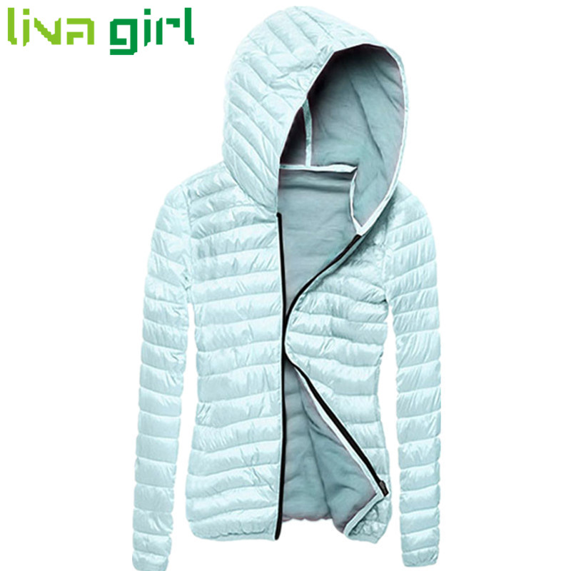2017 Winter Women Fashion Warm Thick Hoodies Snow Coat Lady Long Sleeve Outwear Slim Down Zipper Parkas Tops Jacket Abrigo Sep30