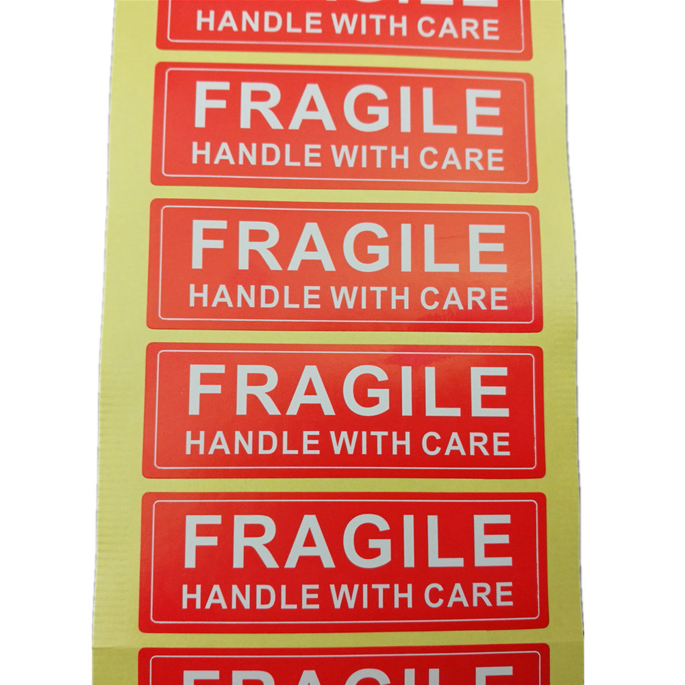 500pcs fragile handle with care shipping label sticker 75x25mm 1x3 inch fragile warning sticker in stationery stickers from office school supplies on