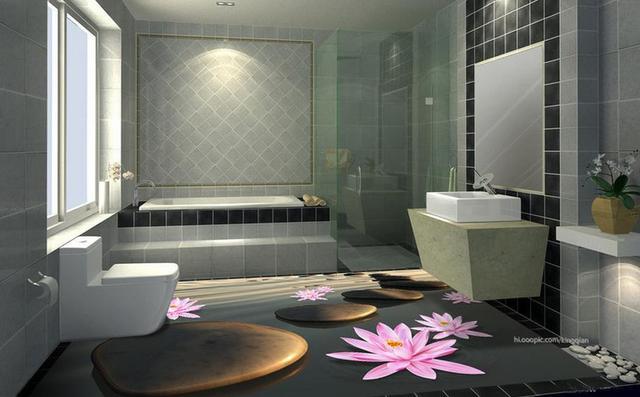 Benutzerdefinierte 3d Bodenbelag Selbstklebende Tapete Kiesel 3d Wallpaper  Landschaft Fliesenboden Badezimmer Tapeten Wohnkultur 3d
