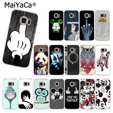MaiYaCa Fashion Girl Animal Owl panda dog Mickey Mouse phone case for samsung galaxy S4 6 7Edge 8 9 s6 edge PLUS 8 9plus cover(China)