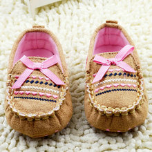 Baby Soft Newborn Shoes Cotton Bow-knot Girl Boy First Walkers