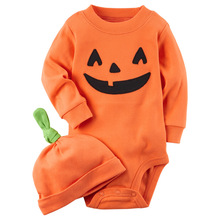 Kids Spring And Autumn halloween Pumpkin Cosplay Costume Boys Girls Jumpsuits Baby Crawling Clothes