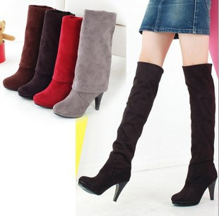Mode Stiefel Damen Overknee Stiefel Dünne High Heels Damen Herbst Stiefel Mode ... d676a0