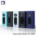 100% Original Hugo vapor V2.0 Boxer 188 w Caixa Mod CAIXA MOD Cigarro e TC TC de Noriyang