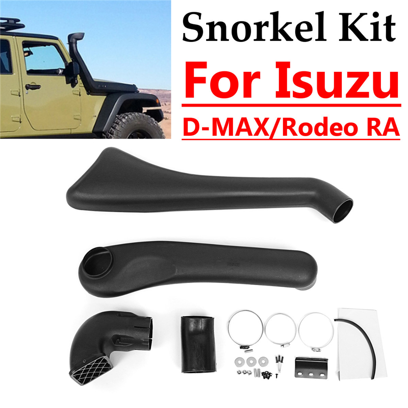 Car Snorkel Kit For Isuzu Rodeo RA/D-MAX/x 2009-2012 ABS Plastic Air Intakes Parts Set lift kit for toyota hilux revo