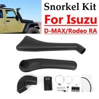 Car Snorkel Kit For Isuzu Rodeo RA/D MAX/x 2009 2012 ABS Plastic Air Intakes Parts Set