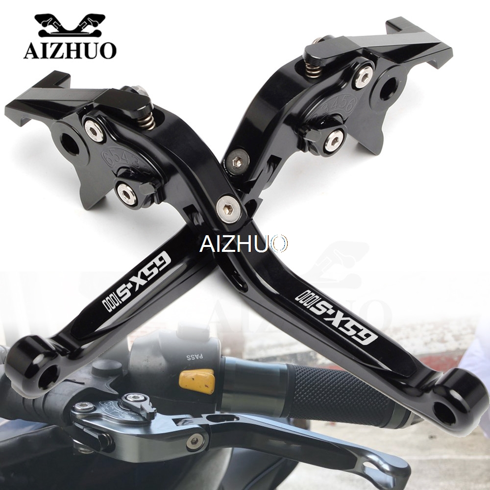 Motorcycle Brake Clutch Lever Extendable Adjustable Levers For Suzuki GSX-S1000/F/ABS GSXS GSX-S GSX S 1000 2015 2016 image