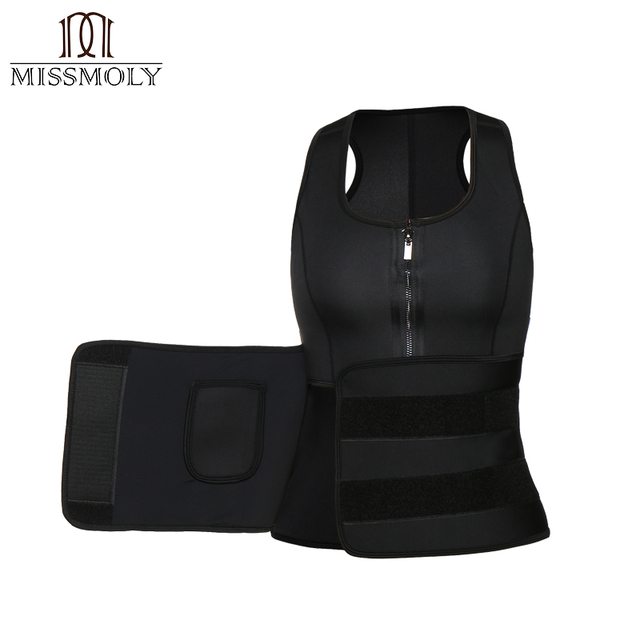 Miss Moly Neoprene Body Shaper Sweat Waist Trainer Modeling Belt Tummy Control Sheath Fitness Slimming Shapewear Cincher Corset 2