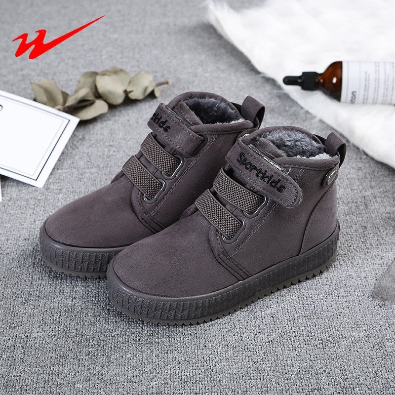 DOUBLESTAR MR 2018 New Winter Children's Sport Running Shoes Magic Subsidies Snowfield Warm Student Sneakers