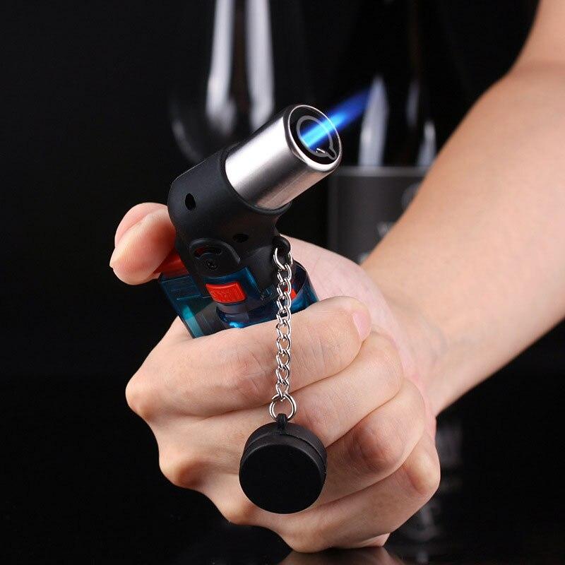 Mini Butane Jet Torch Cigarette Windproof Lighter Random Color Plastic Fire Ignition Burner Cooking Torch Lighter