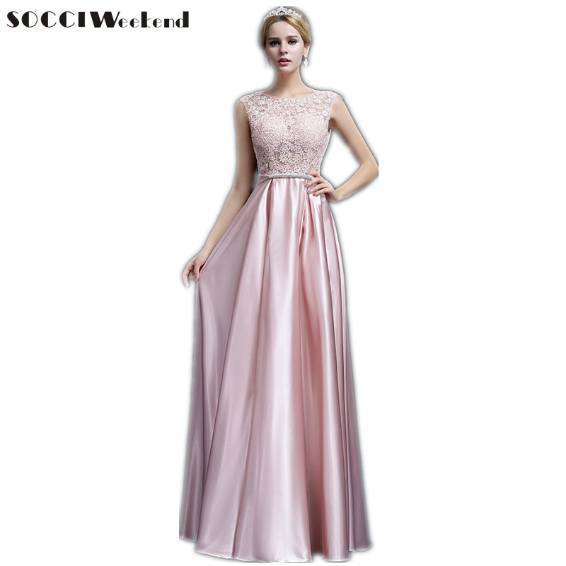 Long purple Satin Lace Evening dress 2016 Mother of the Bride Dresses Red Crystal Sashes vestido de festa V Back Bow Party gowns